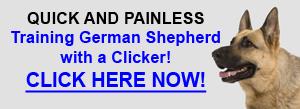 German Shepherd Clicker Training